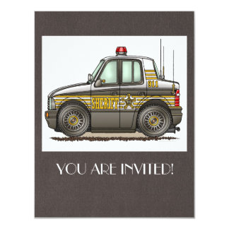 Sheriff Car Patrol Car Card
