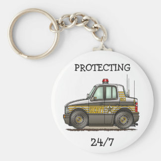 Sheriff Car Patrol Car Keychain P2