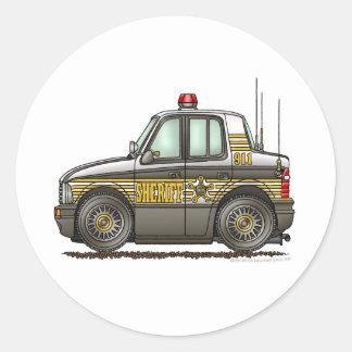 Sheriff Car Patrol Car Law Enforcement Classic Round Sticker