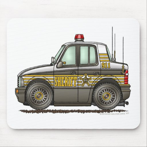 Sheriff Car Patrol Car Law Enforcement Mouse Pad