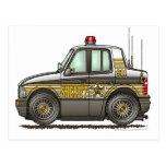 Sheriff Car Patrol Car Law Enforcement Postcard