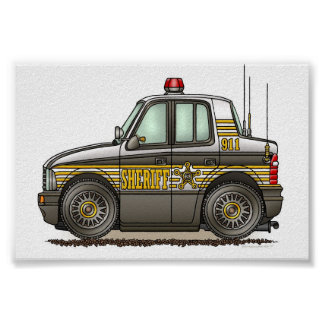 Sheriff Car Patrol Car Poster