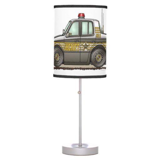 Sheriff car patrol car table lamp zazzle for Cars 2 table lamp