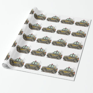 Sheriff Car Patrol Car Gift Wrap Paper