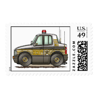 Sheriff Car Police Crusier Cop Car Postage Stamp