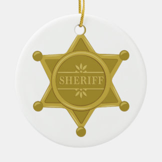 Sheriff Ceramic Ornament