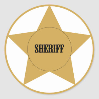 Sheriff Classic Round Sticker