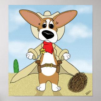 Sheriff Corgi Poster