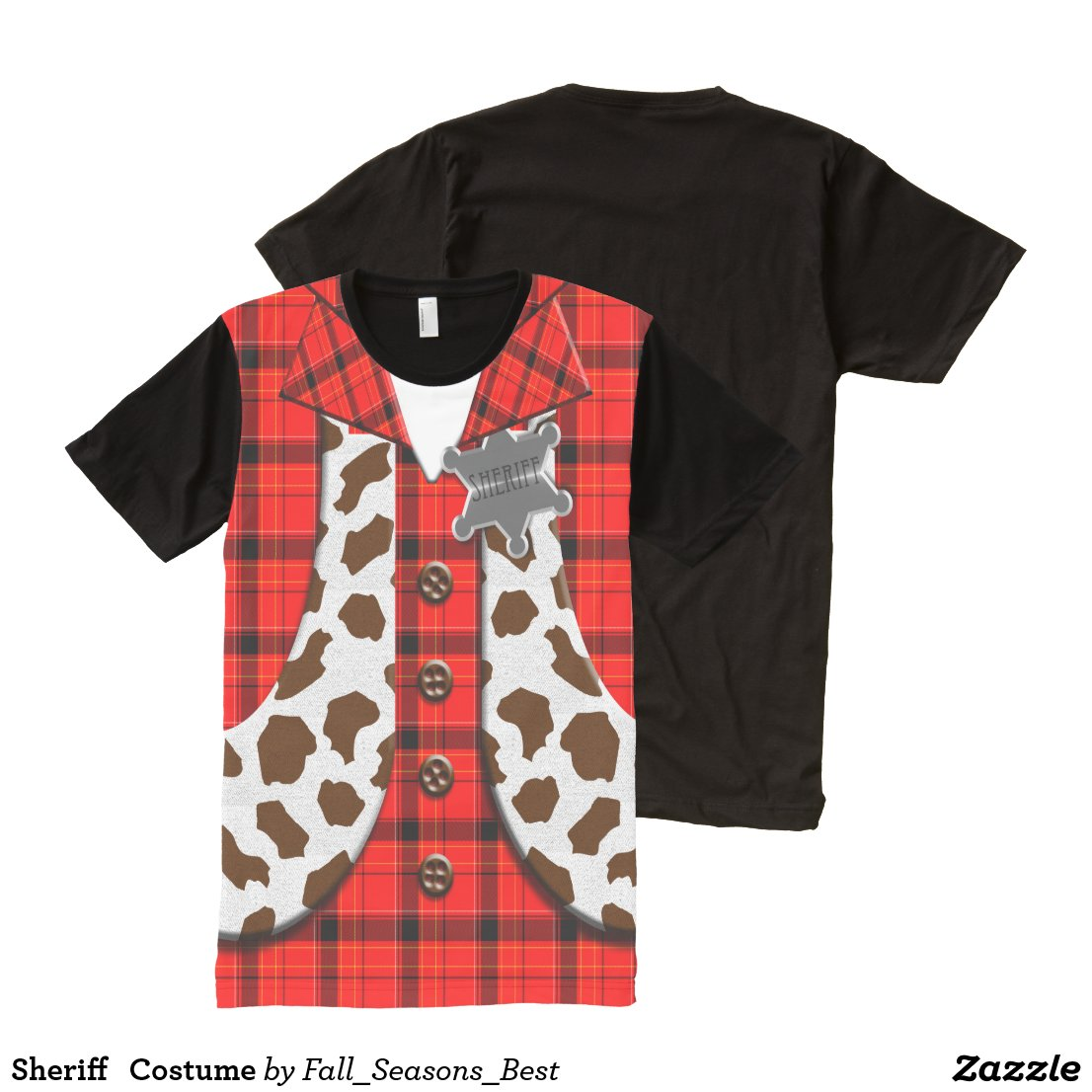 Sheriff   Costume All-Over-Print Shirt