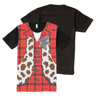 Sheriff   Costume All-Over Print T-shirt