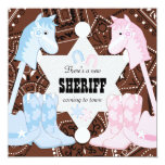 Sheriff Cowboy Gender Reveal Party Invitations