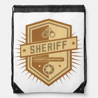 Sheriff Crest Drawstring Backpack