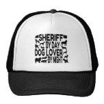 Sheriff del amante del perro gorras de camionero