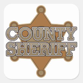 Sheriff del condado pegatina cuadrada