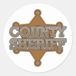 Sheriff del condado pegatina redonda