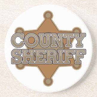 Sheriff del condado posavasos personalizados