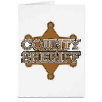 Sheriff del condado tarjeta de felicitación