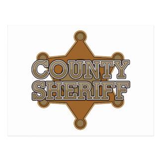 Sheriff del condado tarjeta postal