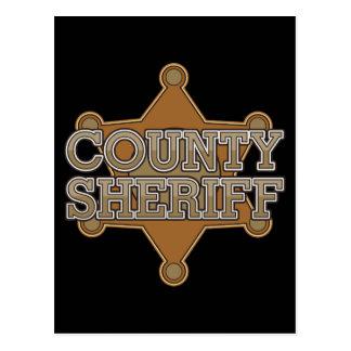 Sheriff del condado tarjetas postales