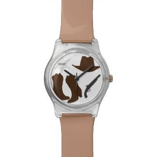 Sheriff del oeste salvaje relojes de pulsera