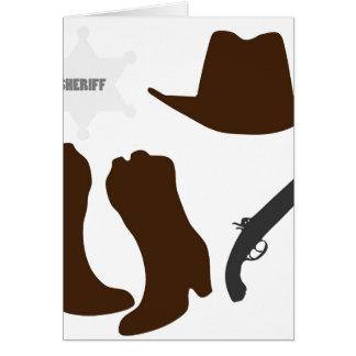 Sheriff del oeste salvaje tarjeton