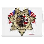 Sheriff Deputy Badge Greeting Card