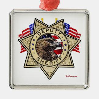 Sheriff Deputy Badge Metal Ornament