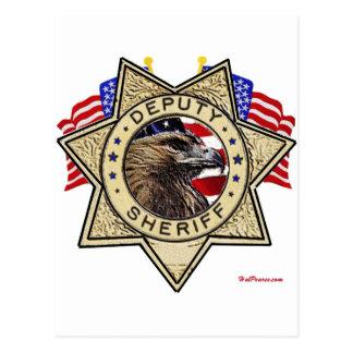 Sheriff Deputy Badge Postcard