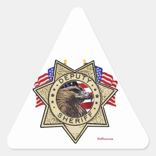 Sheriff Deputy Badge Triangle Sticker