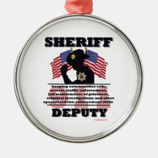 Sheriff_Deputy Metal Ornament