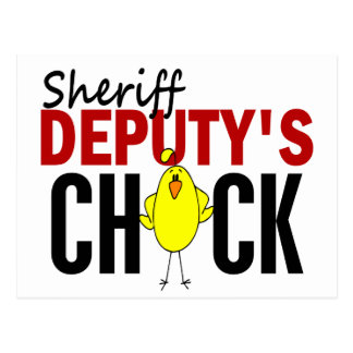 Sheriff Deputy's Chick Postcard