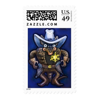 Sheriff Dillo Postage Stamps