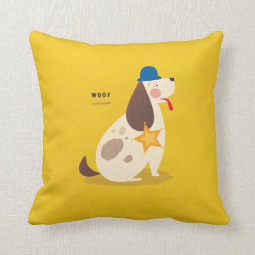 Sheriff Dog! Throw Pillow Zazzle