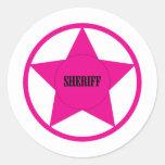 Sheriff Etiqueta Redonda