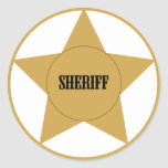 Sheriff Etiquetas Redondas