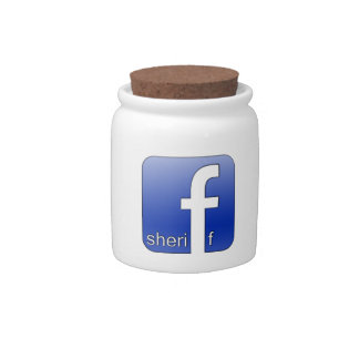 Sheriff Facebook Logo Unique Gift Popular Template Candy Jar