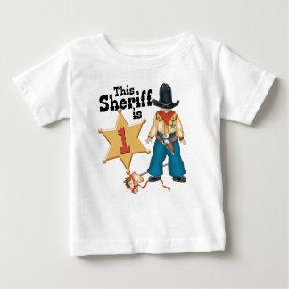 Sheriff First Birthday Baby T-Shirt