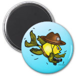SHERIFF FISH - funny cute Sparky Cartoon Fridge Magnets