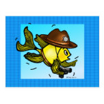 SHERIFF FISH - funny cute Sparky Cartoon Postcard