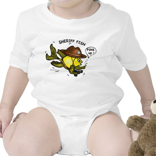 SHERIFF FISH - funny cute Sparky Cartoon Shirt