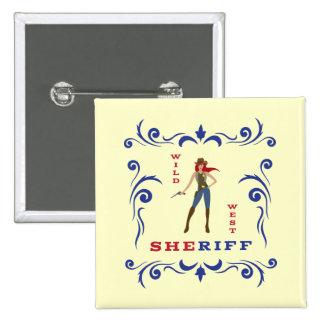 Sheriff Girl Button