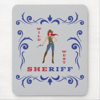 Sheriff Girl Mousepad