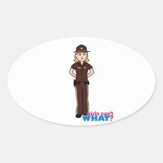 Sheriff Girl Oval Sticker
