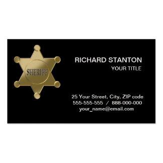 Sheriff golden star business card