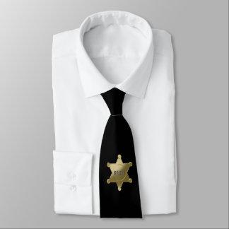 Sheriff golden star neck tie