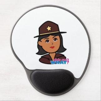 Sheriff Head - Dark Gel Mouse Pad
