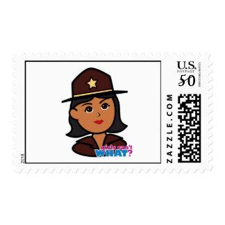 Sheriff Head - Dark Postage