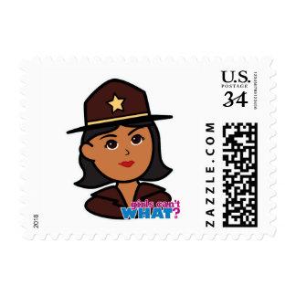 Sheriff Head - Dark Postage Stamp