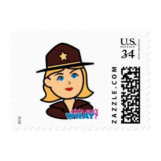 Sheriff Head - Light/Blonde Postage Stamp