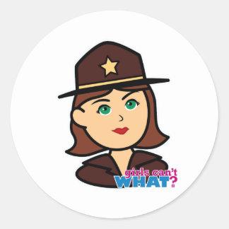 Sheriff Head - Medium Classic Round Sticker